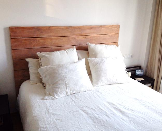 Cabecero de cama de madera cama de madera con rejilla de - Cabecero de cama de madera ...