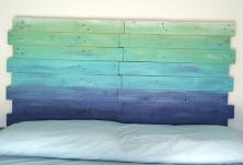 Cabecero de madera estilo marinero