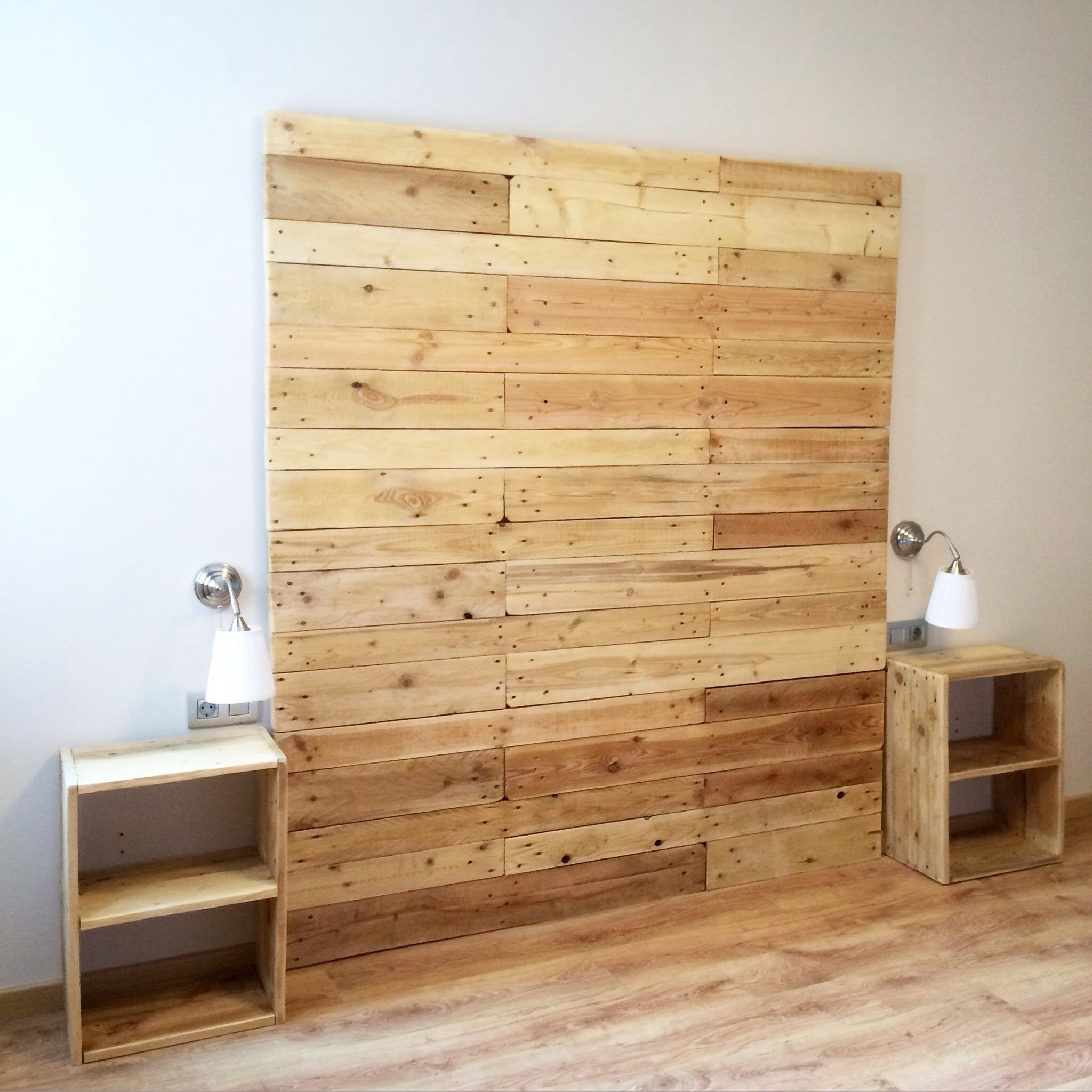 Como hacer un cabecero de madera cabecero de cama en - Hacer cabecero de madera ...