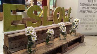 Letras de madera como decoración