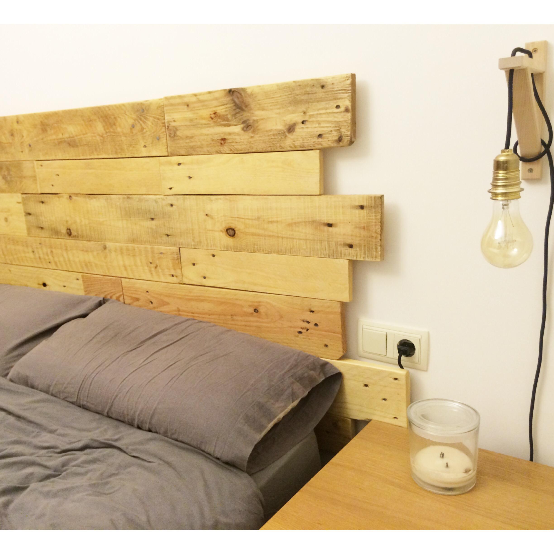 Cabecero de madera con dise o personalizado ibid wood - Hacer cabecero de madera ...