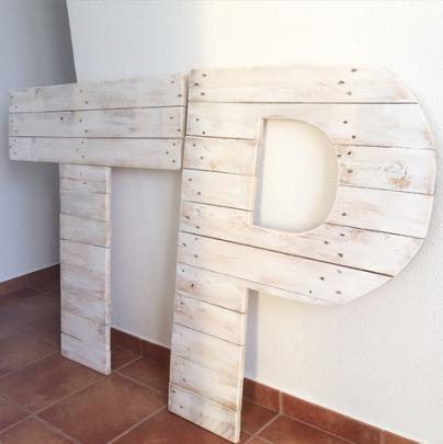 Letras de madera para una boda