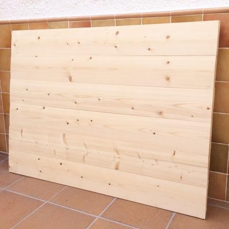 Base de madera de abeto para cabecero de cama