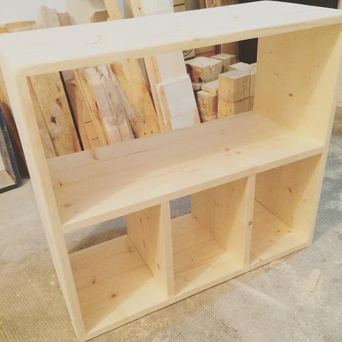 Mesita de madera a medida