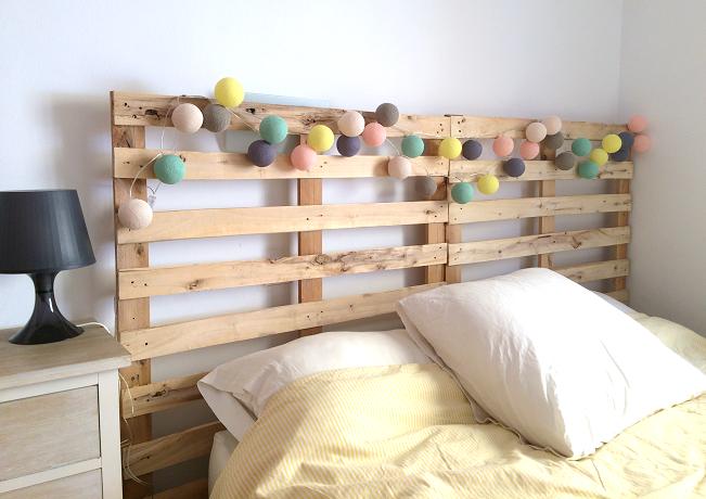 Cabecero de cama con palets reciclados ibid wood - Cabeceros de cama con palets ...