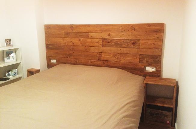 Cabeceros de cama de madera dormitorio de madera de pino - Cabecero de cama de madera ...